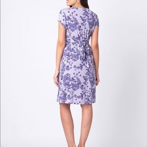 4a1b8527ab4f1 Seraphine Dresses | Lavender Blossom Knot Front Maternity Dress ...